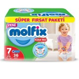 Molfix Pants Külot Bezi Süper Fırsat Paketi XX Large 7 Beden 36 lı