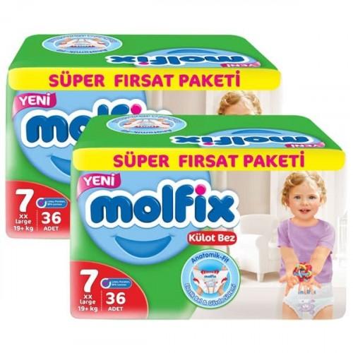 Molfix Pants Külot Bezi Süper Fırsat XX Large 7 Beden 36 lı x 2 Adet