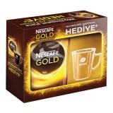 Nescafe Gold Çözülebilir Kahve 200 gr (Cam Fincan Hediye)