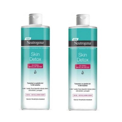 Neutrogena Skin Detox Micellar Water 400 ml x 2 Adet