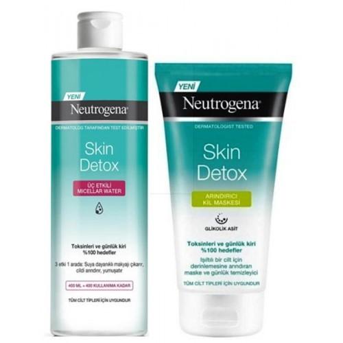 Neutrogena Skin Detox Miceller Makyaj Temizleme Suyu + Kil Maskesi