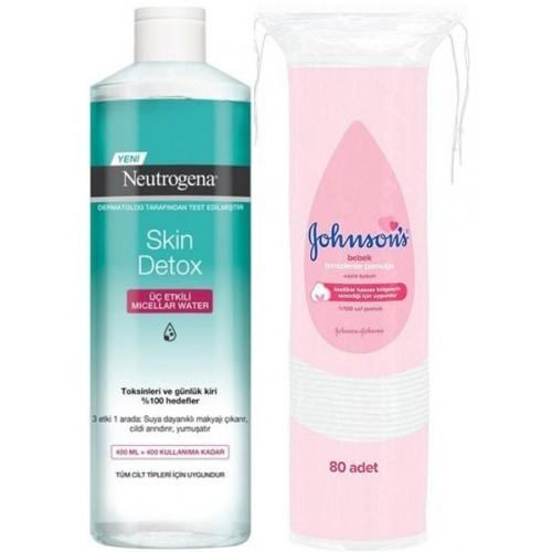 Neutrogena Skin Detox Üç Etkili Micellar Water 400 ml (Pamuk Hediyeli)