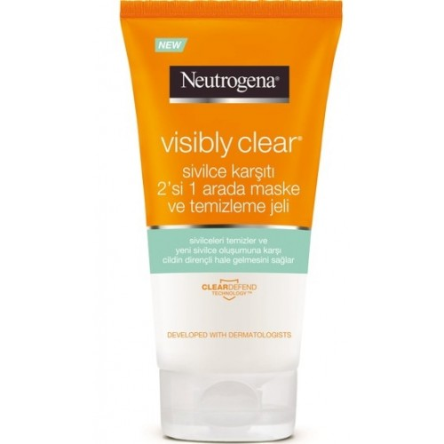 Neutrogena Visibly Clear 2 si 1 Arada Temizleme Jeli 150 ml