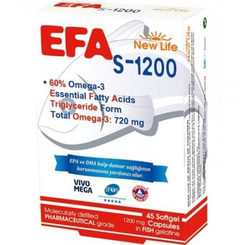 New Life Efa S 1200 Balık Yağı 45 Kapsül