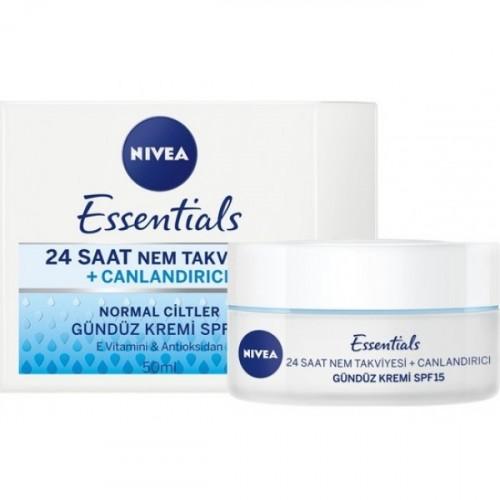 Nivea Essentials 24 Saat Nem + Canlandırıcı Gündüz Kremi  50 ml