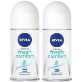 Nivea Fresh Comfort Kadın Roll-on 50 ml x 2 Adet
