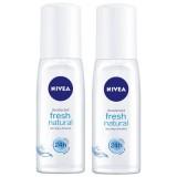 Nivea Fresh Natural Kadın Deodorant Sprey 75 ml x 2 Adet