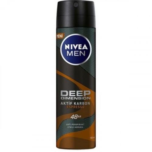 Nivea Men Deep Dimension Espresso Deodorant 150 ml