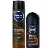 Nivea Men Deep Dimension Espresso Roll-on 50 ml + 150 ml Deodorant