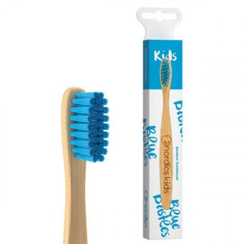 Nordics Bambu Çocuk Diş Fırçası - Mavi