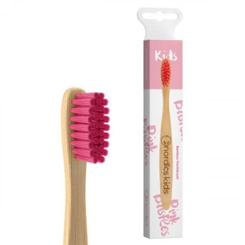 Nordics Bambu Çocuk Diş Fırçası - Pembe