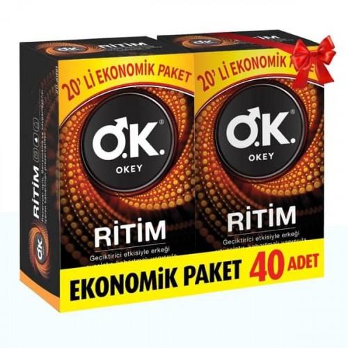 Okey Prezervatif Ritim 40 lı Paket