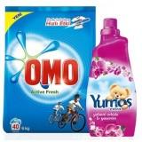 Omo Active Fresh 6 kg  + Yumoş Extra Yabanı Orkide 1440 ml