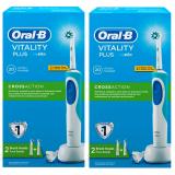 Oral-B D12 Cross Action Şarjlı Diş Fırçası 2 Yedek Başlık x 2 Adet