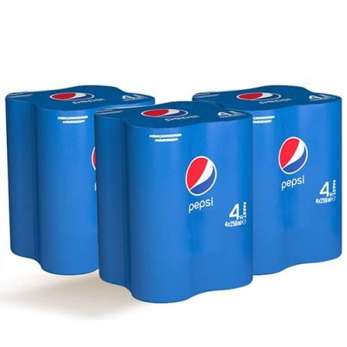 Pepsi Cola Kutu 4x250 ml x 3 Adet