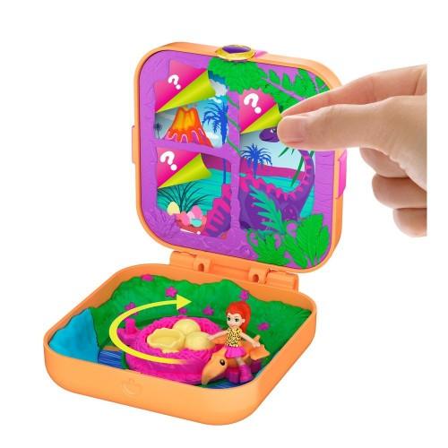 Polly Pocket Sürprizlerle Dolu Micro Oyun Setleri Dinozor Keşfi GKV10