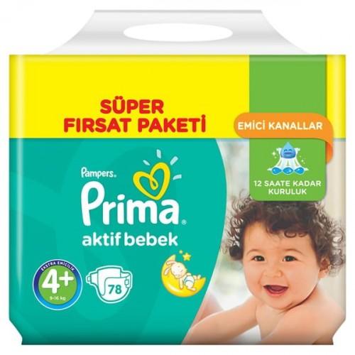 Prima Bebek Bezi Süper Fırsat Paketi Maxi Plus 4+ No 72 li