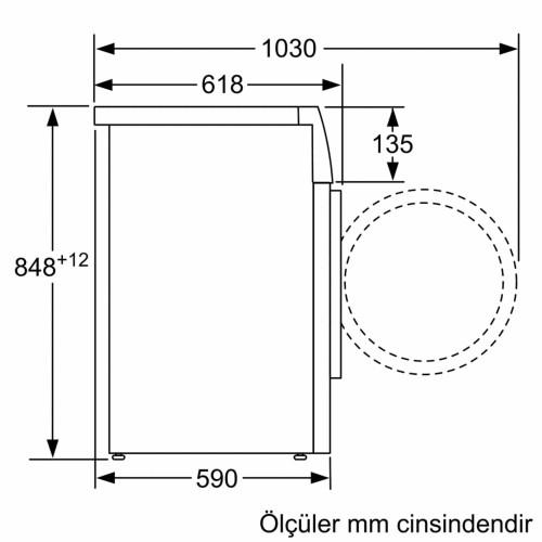 Profilo CMG120DTR 9 Kg Yıkama 1200 Devir Çamaşır Makinesi
