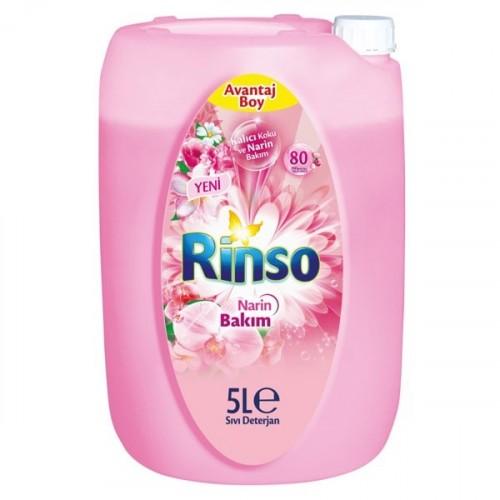 Rinso Sıvı Çamaşır Deterjanı Narin Bakım 5 lt