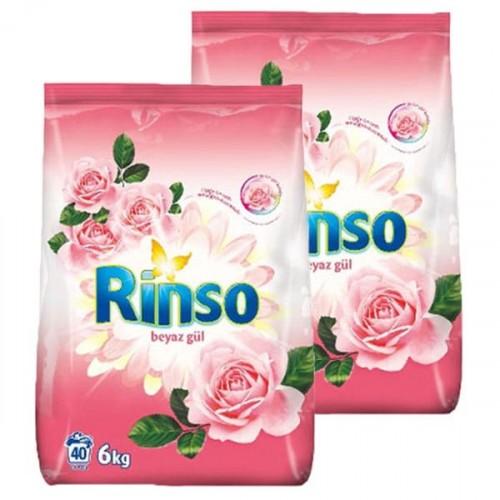 Rinso Toz Çamaşır Deterjanı Beyaz Gül 6 kg x 2 Adet