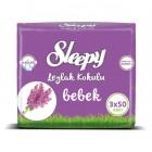Sleepy Islak Havlu Leylak Kokulu 50 li (3lü Fırsat Paketi)