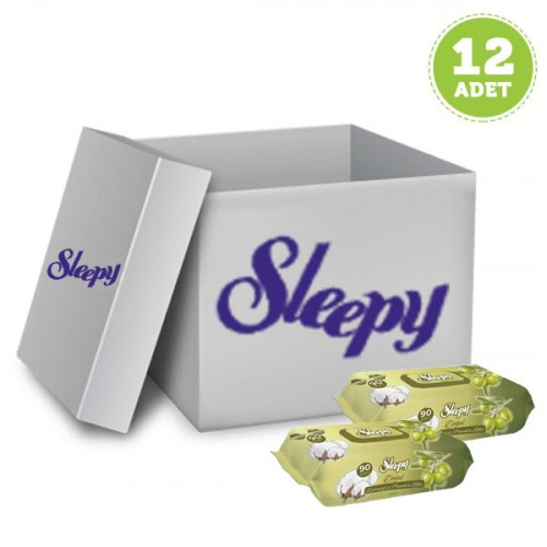 Sleepy Islak Havlu Zeytinyağı - Pamuksu Lifler 90 lı x 12 Adet