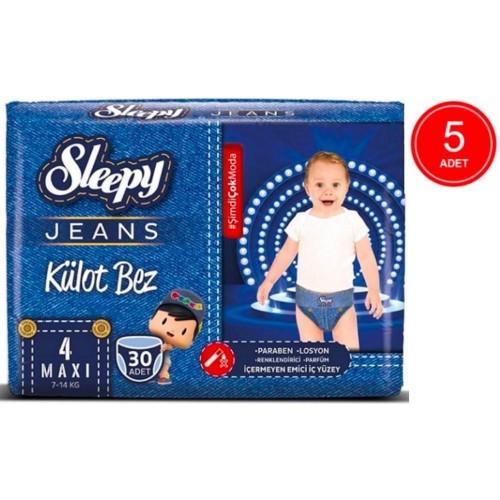 Sleepy Jeans Külot Bez Maxi 4 No 30 lu x 5 Adet