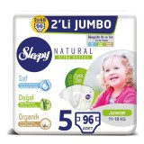 Sleepy Natural Bebek Bezi Junior 5 No 24 lü x 4 Adet