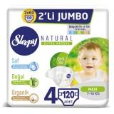 Sleepy Natural Bebek Bezi Maxi 4 No 30 lu x 4 Adet