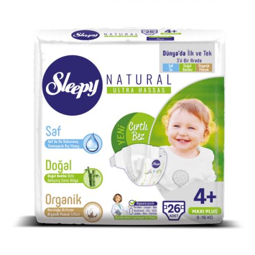 Sleepy Natural Bebek Bezi Maxi Plus 4+ No 26 lı