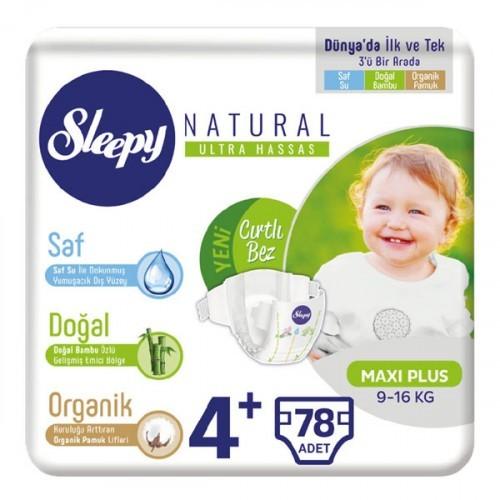 Sleepy Natural Bebek Bezi Maxi Plus 4+ No 26 lı x 3 Adet