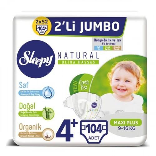 Sleepy Natural Bebek Bezi Maxi Plus 4+ No 26 lı x 4 Adet