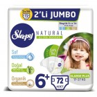 Sleepy Natural Bebek Bezi X Large Plus 6+ no 18 li x 4 Adet