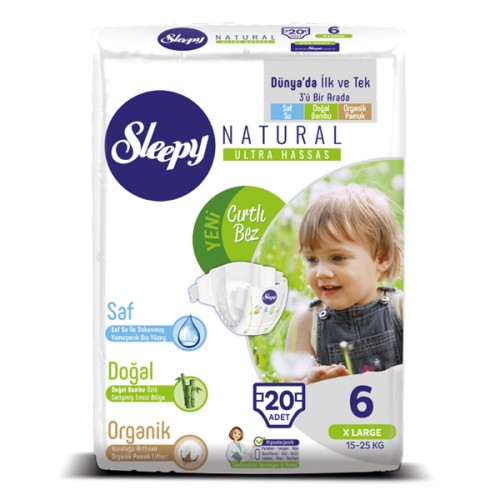 Sleepy Natural Bebek Bezi Xlarge 6 No 20 li