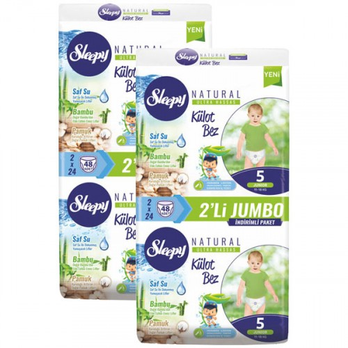 Sleepy Natural Külot Bez Junior 5 No 48 li x 2 Adet
