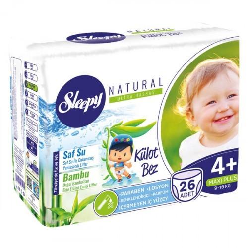 Sleepy Natural Külot Bez Maxi Plus 4+ No 26 lı