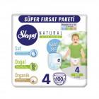 Sleepy Natural Külot Bez Mega Paket Maxi 4 Beden 100 Adet