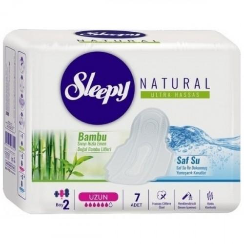 Sleepy Natural Ultra Hassas Hijyenik Ped Uzun (7 Adet)