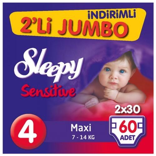 Sleepy Sensitive Bebek Bezi Maxi 4 No 60 lı
