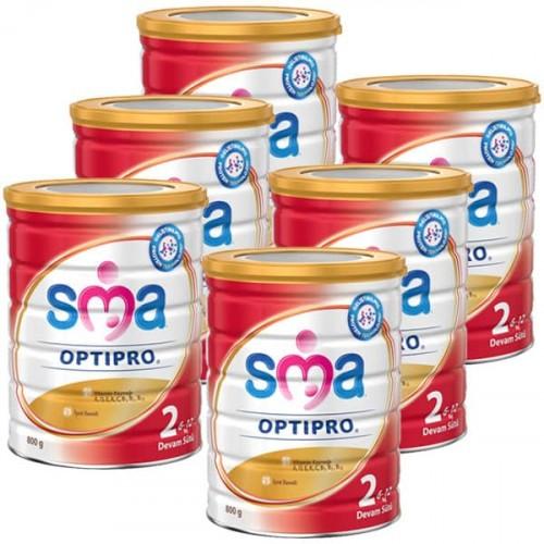 SMA 2 Optipro Devam Sütü 800 gr x 6 Adet
