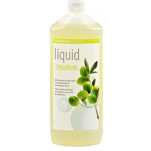 Sodasan Sıvı Sabun Zeytinyağlı Kokusuz Hassas 1000 ml