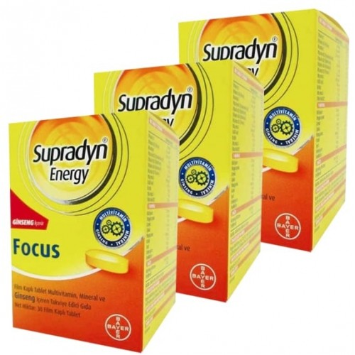 Supradyn Energy Focus 30 Tablet x 3 Adet