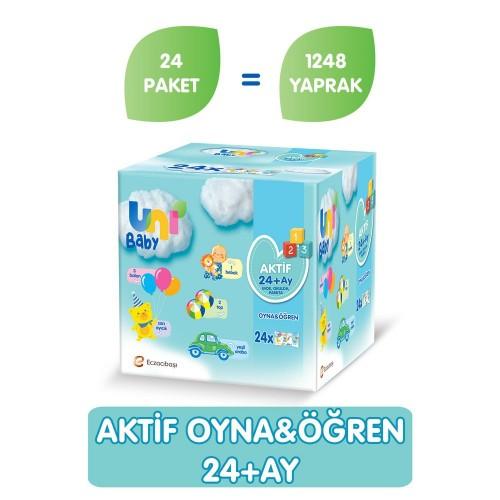 Uni Baby Oyna Öğren Islak Mendil 24'lü Fırsat Paketi (1248 Yaprak)