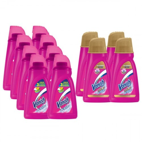 Vanish Sıvı Leke Çıkarıcı 900 ml 8 li + Vanish Gold 900 ml 4 lü