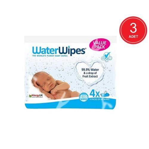 WaterWipes Doğal Islak Mendil 60 lı x 12 Adet (720 Yaprak)