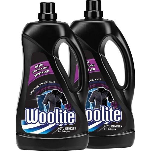 Woolite Koyu Renkler Sıvı Çamaşır Deterjanı 2500 ml x 2 Adet