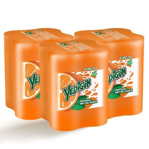 Yedigün Portakal Kutu 4x250 ml x 3 Adet