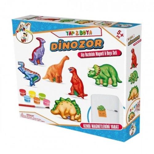 Gepet Toys Alçı Buzdolabı Magneti ve Boya Seti-Dinazor