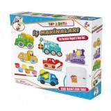 Gepet Toys Alçı Buzdolabı Magneti ve Boya Seti - İş Makinaları