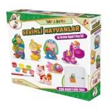 Gepet Toys Alçı Buzdolabı Magneti ve Boya Seti - Sevimli Hayvanlar